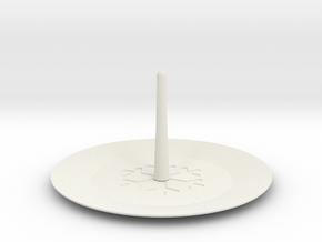 Ring Plate in White Natural Versatile Plastic