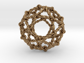 """Twisted Penta Sphere 1.6"""" in Natural Brass"""
