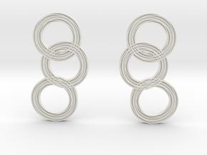 Raindrop earrings in White Natural Versatile Plastic