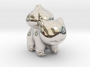 Bulbasaur in Rhodium Plated Brass