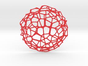 Drink coaster - Voronoi #9 (9 cm) in Red Processed Versatile Plastic