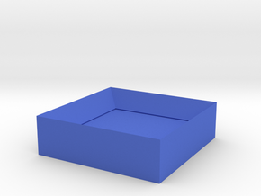 Hour of Code : TopPiece in Blue Processed Versatile Plastic