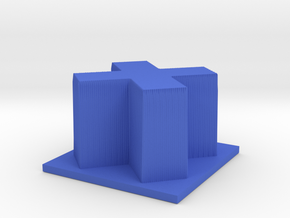 Hour of Code : Cross in Blue Processed Versatile Plastic