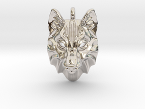 Timber Wolf Small Pendant in Platinum