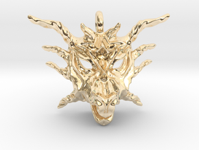 Sunlight Dragon Pendant in 14K Yellow Gold
