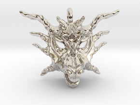Sunlight Dragon Pendant in Rhodium Plated Brass