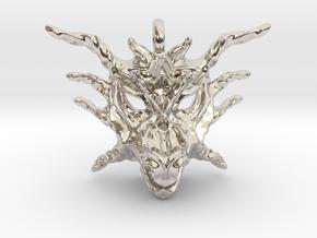Sunlight Dragon Small Pendant in Platinum