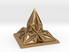 Pyramid Arcology in Natural Brass