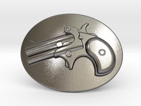 Derringer Belt Buckle in Polished Nickel Steel