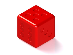 Dice in Red Strong & Flexible Polished