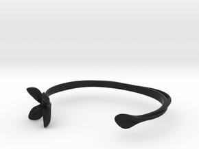Helix Bracelet in Black Natural Versatile Plastic