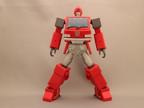 MP Ironhide Ratchet waist armor movable joint in Red Processed Versatile Plastic
