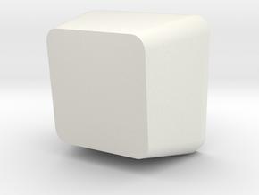 Customisable Topre Keycap in White Natural Versatile Plastic