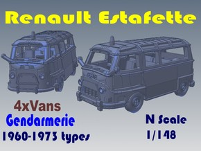 1-148 R-Estafette Gendarmerie SET in White Strong & Flexible