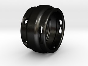 Infinity Ring in Matte Black Steel