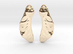 Maple Seed Earrings in 14k Gold Plated Brass
