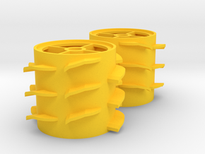 Grass Silage Spreader - Rotor 1/32 in Yellow Processed Versatile Plastic