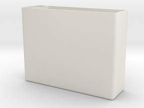"""Anti Smell"" Box For Matches in White Natural Versatile Plastic"
