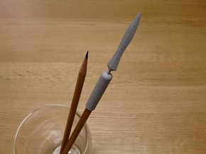 Yari (Japanese spear) Pen Cap in Polished Metallic Plastic