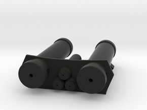 E-11 Power Cylinders v1.1 Profile B in Black Natural Versatile Plastic