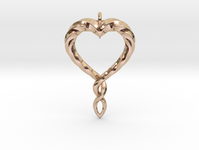 Twisted Heart New in 14k Rose Gold