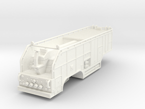 1/87 tender trailer for Super Pumper System (updat in White Strong & Flexible Polished