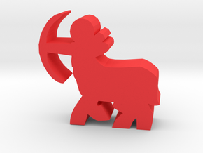 Game Piece, Centaur Archer in Red Processed Versatile Plastic