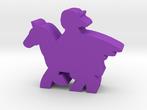 Game Piece, Pegasus Rider in Purple Processed Versatile Plastic