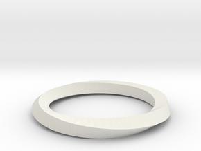 Mobius Band G in White Natural Versatile Plastic