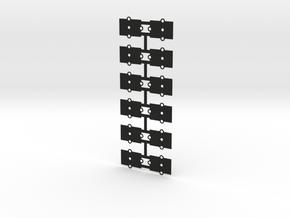 (12) O Gauge .5mm Shims Experimental in Black Natural Versatile Plastic