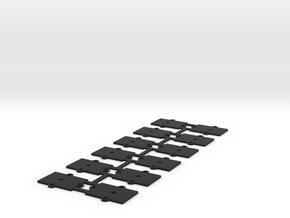 (12) O Gauge 1mm Shims  in Black Natural Versatile Plastic