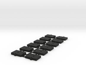 (12) O Gauge 3mm Shims in Black Natural Versatile Plastic