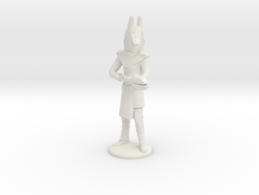Jackel Guard With Staff - 25 mm scale in White Strong & Flexible