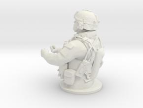 Tank Gunner 1/7 in White Natural Versatile Plastic