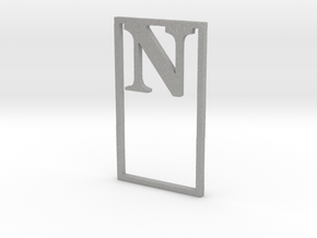 Bookmark Monogram. Initial / Letter  N  in Aluminum