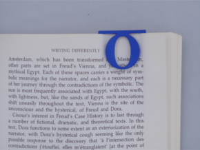 Bookmark Monogram. Initial / Letter  O in Blue Processed Versatile Plastic