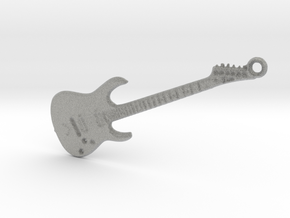 Rock Guitar Pendant in Metallic Plastic