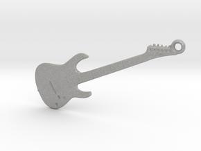 Rock Guitar Pendant in Aluminum
