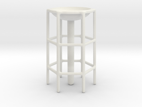 Tower Base in White Natural Versatile Plastic
