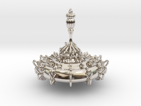 Ornate Top in Rhodium Plated Brass
