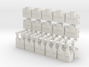 MGD-05 & MGD-07 (20x): A Set with 20 End-parts in White Natural Versatile Plastic