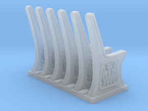 GWR Bench ends 2mm scale x 6 sprue in Smooth Fine Detail Plastic