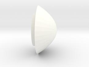 Trache Cap For Not White Valve in White Processed Versatile Plastic