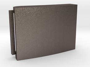 Custom Belt Buckle - Metal (customizable) in Polished Bronzed Silver Steel