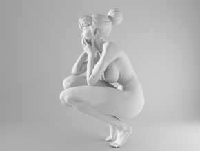 1/10 Sexy Girl Sitting 003 in White Strong & Flexible