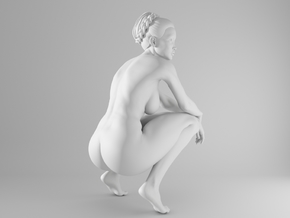 1/10 Sexy Girl Sitting 012 in White Strong & Flexible