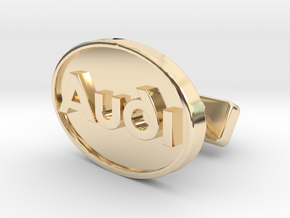Audi Classic Cufflink in 14K Yellow Gold