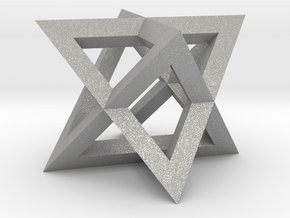 Mini-Merkaba - Sharp - Thin - 1cm in Aluminum