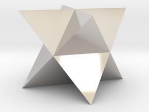 Mini-Merkaba - Solid - Sharp - 1cm in Platinum