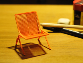 PK25 Style Chair 1/12 Scale in Orange Processed Versatile Plastic